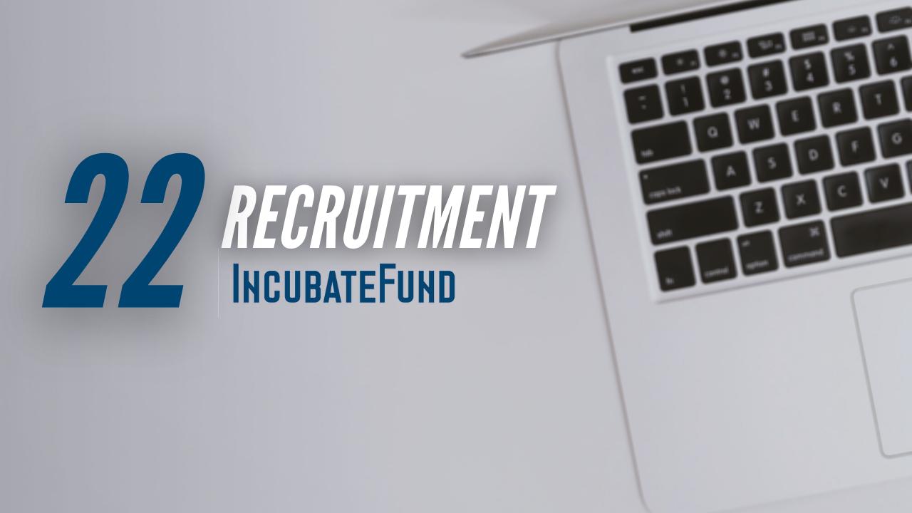 インキュベイトファンド、2022年卒新卒採用募集開始