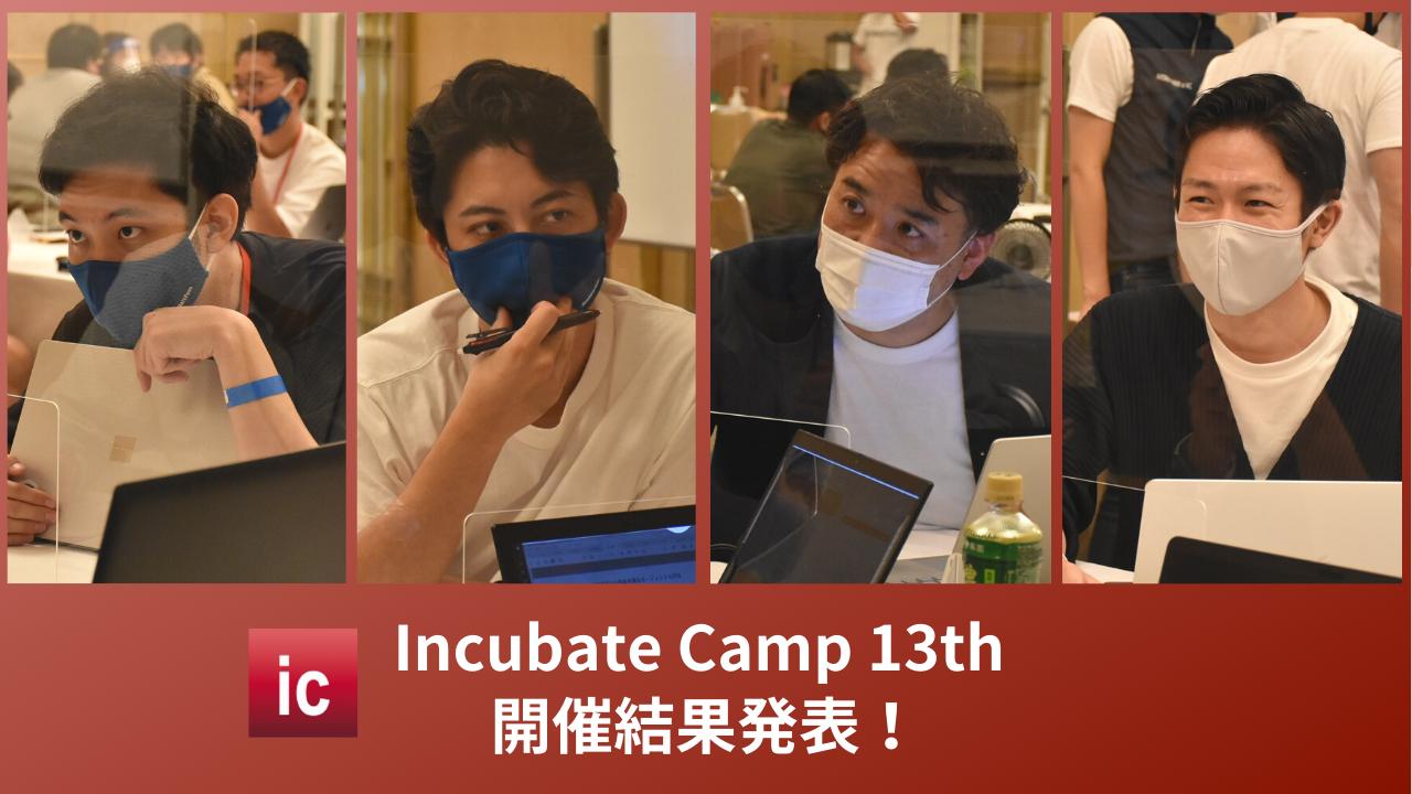 起業家/投資家合同経営合宿『Incubate Camp 13th』、過去最大エントリー数473名の頂点に立ったのは『株式会社ログラス』
